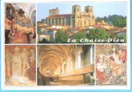 La Chaise-Dieu-(Velay-Brioude-Haute-Loire)-Multivues-Abbatiale Saint-Robert-Orgue (XVIIe)-Stalles Gothiques-Tapisseries - La Chaise Dieu