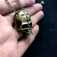 COLLIER + PENDENTIF SKULL - Necklaces/Chains