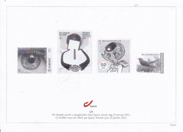 1UITGAVE 2021   25/01/2021  ZWARTWITBLAADJE 1DAG PREMIER JOUR  12€ - Black-and-white Panes