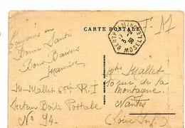 F 16    1939 Carte Postale En FM  De Moselle Isolée - Guerra De 1939-45