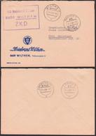 Wilthen Sachsen ZKD-Brief VEB Weinbrand 9.2.69 Nach Ebersbach - Servizio