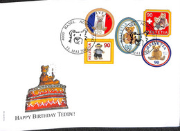 NB - [907957]B/TB//-Suisse 2002 - BASEL, Happy Birthday Teddy - Other