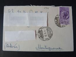 """1916 ITALIA Repubblica -1955- """"Storia Postale"""" TRAPANI Ambulante Ordinaria (descrizione) - 1946-60: Storia Postale"""