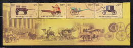 India MNH 2017,  Means Of Transport, Strip Of 4 /Se-tenent, Cart, Bullock, Horse, Camel,  With Bottom Tab, - Neufs