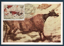 France Carte Maxi Du YT 1555 Grottes De Lascaux Montignac FDC 1er Jour Cote 25€ - Covers & Documents