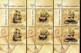 Cyprus - 2011 - Tall Ships - Mint Stamp Pairs Set - Nuevos
