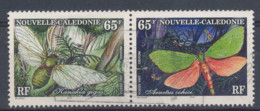 1997 Nouvelle Calédonie New Caledonia, Y&T N°731 Et 733 Oblitérés, Papillons Butterflys - Butterflies
