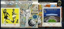 North Yemen, 1970, World Cup, 2 S/s Blocks Stadiums - 1970 – Mexique