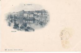 CPA Old Pc Early Espagne Gijon Puerto - Asturias (Oviedo)