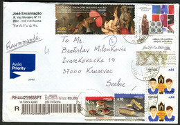 Portugal To Serbia 2019 - Traveled Letter - Briefe U. Dokumente