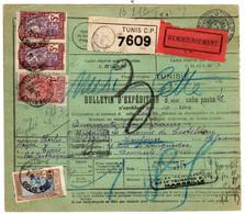 Tunisie : Colis Postaux : Bulletin D'Expédition - Covers & Documents