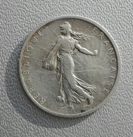 Francia 1 Franc 1907 Seminatrice Argento - France 1 Franc Argent Silver Paris Semeuse - H. 1 Franc