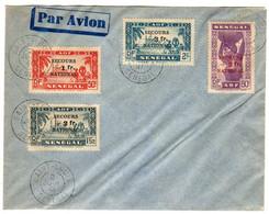 Sénégal : Secours National ( Sans  Nom Et Adresse ) Par Avion - 1941 Secours National