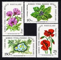 Northern Cyprus - 1981 - Field Flowers - Mint Stamp Set - Nuevos