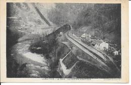 Belle Cpa- LAMATIVIE-46-La Gare-La Centrale électrique-cliché UGHETTO- écrite Voyagée - Other Municipalities