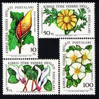 Northern Cyprus - 1982 - Field Flowers - Mint Stamp Set - Nuevos