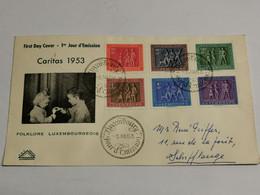 Lettre, Folklore Luxembourgeois 1953 Caritas. Envoyé à Schifflange - Lettres & Documents