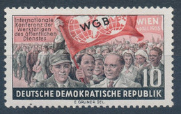 RDA - Congrès De La Fédération Syndicale Mondiale - YT 189** / DDR - Konferenz Der WGB - Mi.Nr. 452** - Ongebruikt