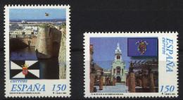 Spain 1998 - Estatutos Ceuta Y Melilla Ed 3534-35 (**) Mi 3375-3376 - 1991-00 Nuevos & Fijasellos