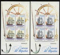 Spain 1995. Barcos De Epoca Ed 3352-53 (**) Mi BLK 57-58 - 1991-00 Nuevos & Fijasellos