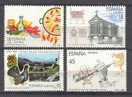 Spain 1988 - Turismo Ed 2935-38 (**) Mi 2816-2817-2836-2837 - 1981-90 Nuevos & Fijasellos