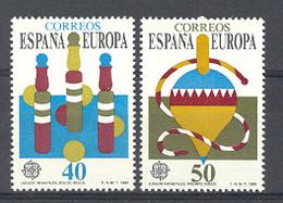 Spain. 1989 Europa - Juegos Ed 3008-09 (**) Mi 2885-2886 - 1981-90 Nuevos & Fijasellos