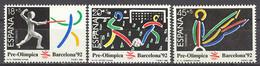 Spain 1989. Pre-Olympic Barcelona-92 (3) 3025-27 (**) Mi 2905-2907 - 1981-90 Nuevos & Fijasellos