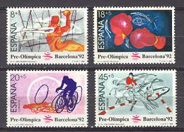 Spain. Pre-Olympic Barcelona-92 (2) 2994-97 (**) Mi 2875-2878 - 1981-90 Nuevos & Fijasellos