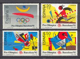 Spain. Pre-Olympic Barcelona-92 (1) 2963-66 (**) Mi 2844-2847 - 1981-90 Nuevos & Fijasellos