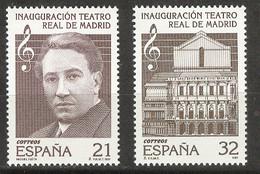 Spain 1997 - Teatro Real De Madrid Ed 3514-15 (**) Mi 3355-3356 - 1991-00 Nuevos & Fijasellos