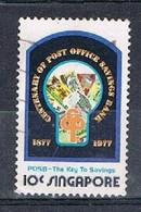 SINGAPORE JA009 - 1977 10c Key To Savngs Used - Singapore (1959-...)