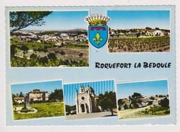 ROQUEFORT LA BEDOULE (Bouches Du Rhône) -CPSM- 5 Vues + Blason - PROVENCE TOURISTIQUE - Otros Municipios