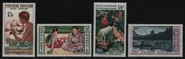 Franz. Polynesien 1958 - Mi-Nr. 10-13 ** - MNH - Gemälde / Paintings (I) - Ungebraucht