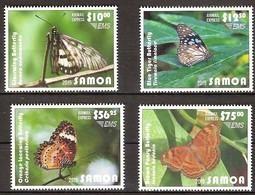 Samoa 2015 Yvertn° LP PA 11-14 *** MNH Cote 160 Euro Faune Papillons Vlinders Butterflies - Butterflies