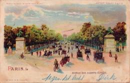 Seltene  ALTE  Halt Gegen Das Licht- AK   PARIS / Frankr. - Avenue Des Champs Elysees - 1903 Gelaufen - Controluce