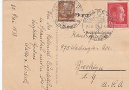 Deutsches Reich Postkarte 1938 Kolonien Austellung - Cartas