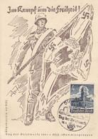 Deutsches Reich Postkarte 1941 Im Kampf Die Freiheit - Cartas