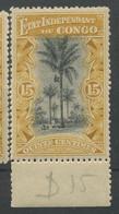20 **. Etat Indépendance Congo.palmier 15c **parfait Dent 15 Cote 19-euros. - 1884-1894 Precursori & Leopoldo II