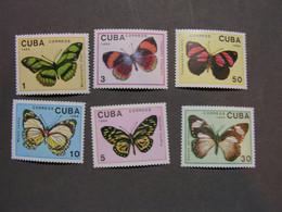 Kuba 1989 Schmeterlinge   ** MNH - Neufs