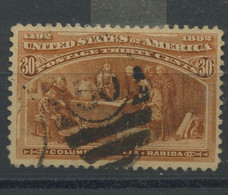 1893 Colombus.  30c Ø Used. Bon Centrage   Yv 90  C: 90,- € - Unused Stamps
