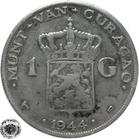 LaZooRo: Curaçao 1 Gulden 1944 D VF - Silver - Curacao