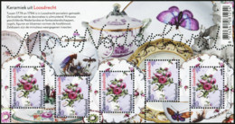 NETHERLANDS 2014 Mooi Nederland Ceramics From Loosdrecht Butterflies Insects Animals Fauna MNH - Butterflies