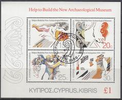 ZYPERN  Block 13, Gestempelt, Neues Archäologisches Museum, 1986 - Usados
