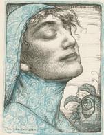 Lithographie Originale D'Alfred Moitroux - Le Musée Du Livre 1924-1925, Pl. XII - 3 Scans - Lithographies