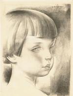 Lithographie Originale De Louis Buisseret - Le Musée Du Livre 1927-1928, Pl. 5 - 3 Scans - Lithographies