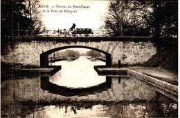 AGEN - Dessus Du Canal Et Le Pont Rouquet - Agen