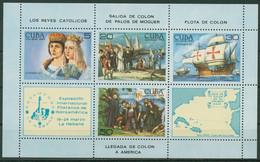 Kuba 1984 ESPAMER Havanna Christoph Kolumbus Block 86 Postfrisch (C95612) - Blocks & Kleinbögen