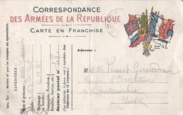 "Frankrijk Carte En Franchise ""Correspondance Des Armees De La Republique"" Gebruikt 1915 (498) - Postales  Transplantadas (antes 1995)"