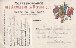 "Frankrijk Carte En Franchise ""Correspondance Des Armees De La Republique"" Gebruikt 1915 (500) - Postales  Transplantadas (antes 1995)"