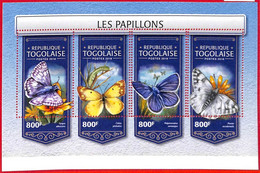 A3106 - TOGO, ERROR MISSPERF, Miniature Sheet: 2018, Butterflies, Insects - Butterflies